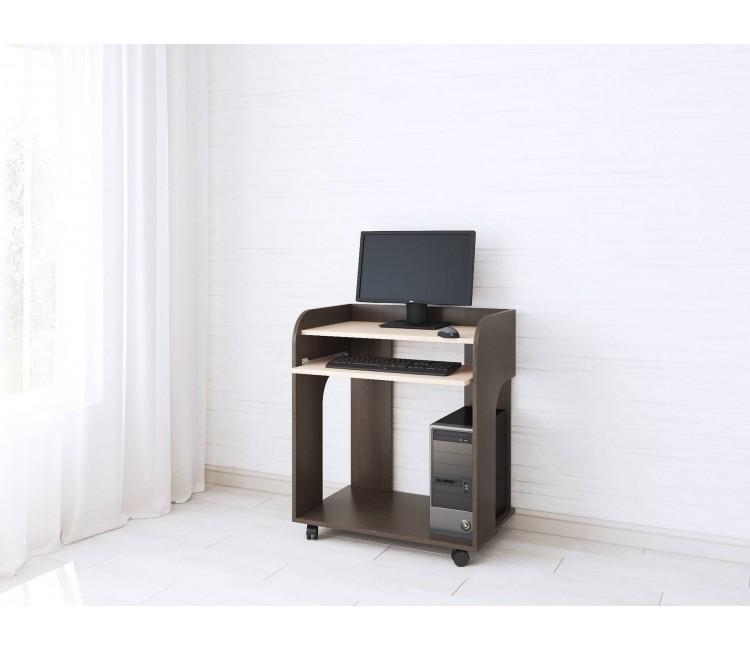 Компьютерный стол Тэкс Грета-10 венге цаво / дуб молочный