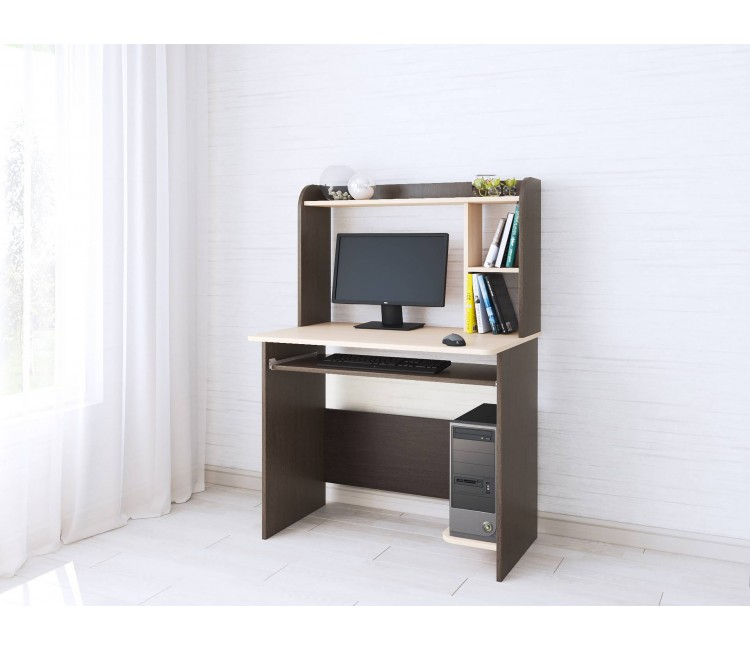 Компьютерный стол Тэкс Грета-2 венге цаво / дуб молочный