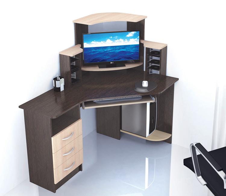 Компьютерный стол Тэкс Грета-7 венге / дуб молочный