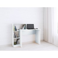 Компьютерный стол Тэкс Квартет-2 + стеллаж белый