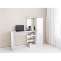 Компьютерный стол Тэкс Квартет-6 + стеллаж + шкаф белый