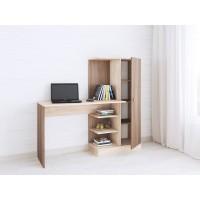 Компьютерный стол Тэкс Квартет-6 + стеллаж + шкаф ясень шимо / дуб сонома