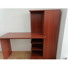 Компьютерный стол Тэкс Квартет-6 + стеллаж + шкаф итальянский орех