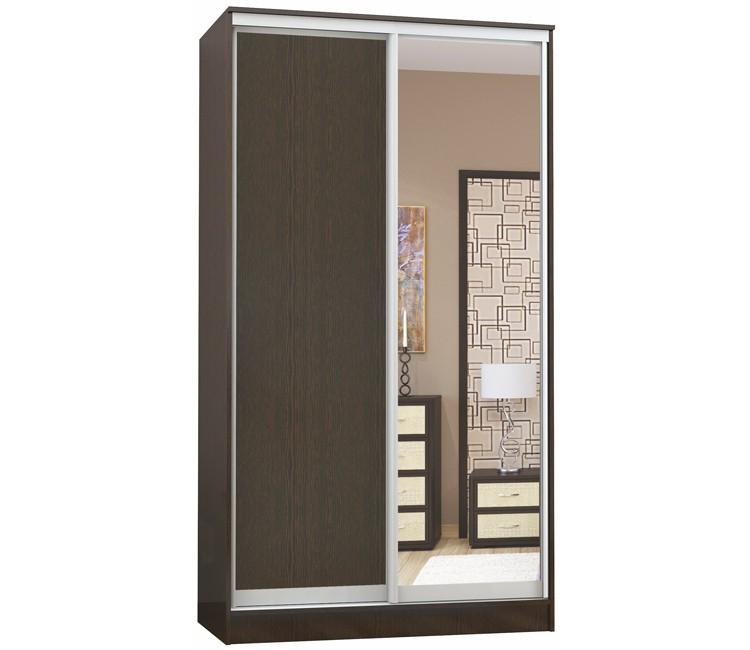 Купить шкаф Тэкс Комфорт-2 венге 1 зеркало комбинированный платяной со штангой для одежды  в спальню в Минске