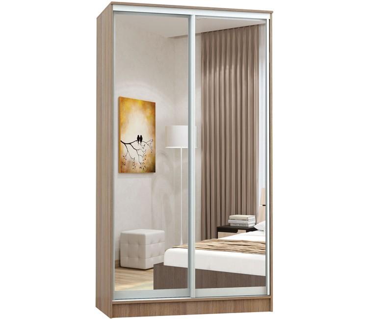 Купить шкаф Тэкс Комфорт-2 1450 шимо 2 зеркала комбинированный платяной со штангой для одежды  в спальню в Минске