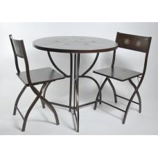 Комплект садовой мебели DOMM MY0001M темная бронза раскладной металлический