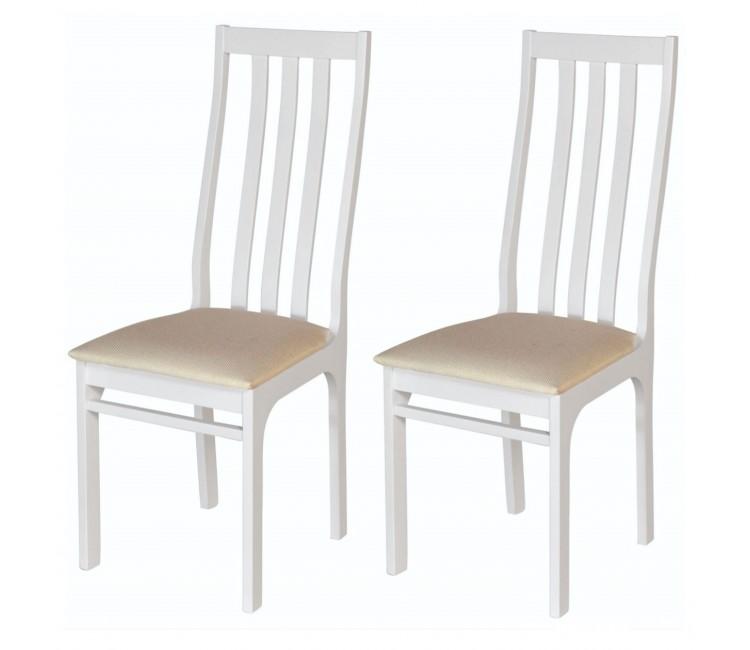 Комплект стульев С36  (2шт) белая эмаль/аполло беж