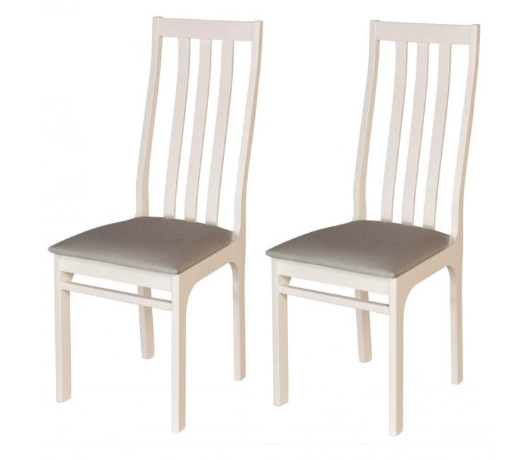 Комплект стульев С36  (2шт) молочный/аполло мокка