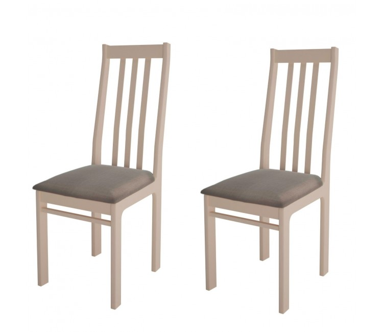 Комплект стульев С36  (2шт) слоновая кость/аполло мокка