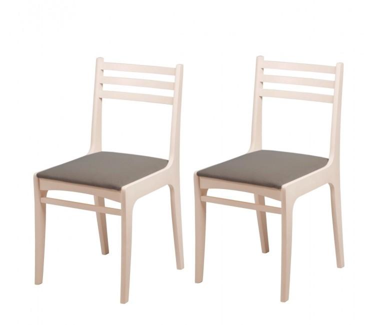 Комплект стульев С8  (2шт) слоновая кость/аполло мокка