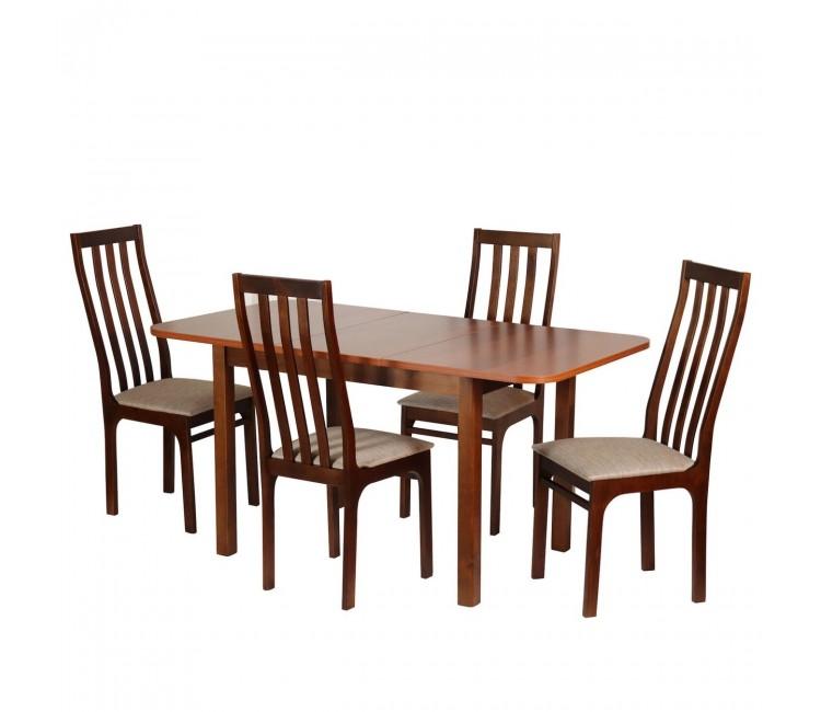 Обеденная группа №14 Стол Ст03Б1 грецкий орех/ноче мария луиза + 4 стула С36 грецкий орех/аполло браун