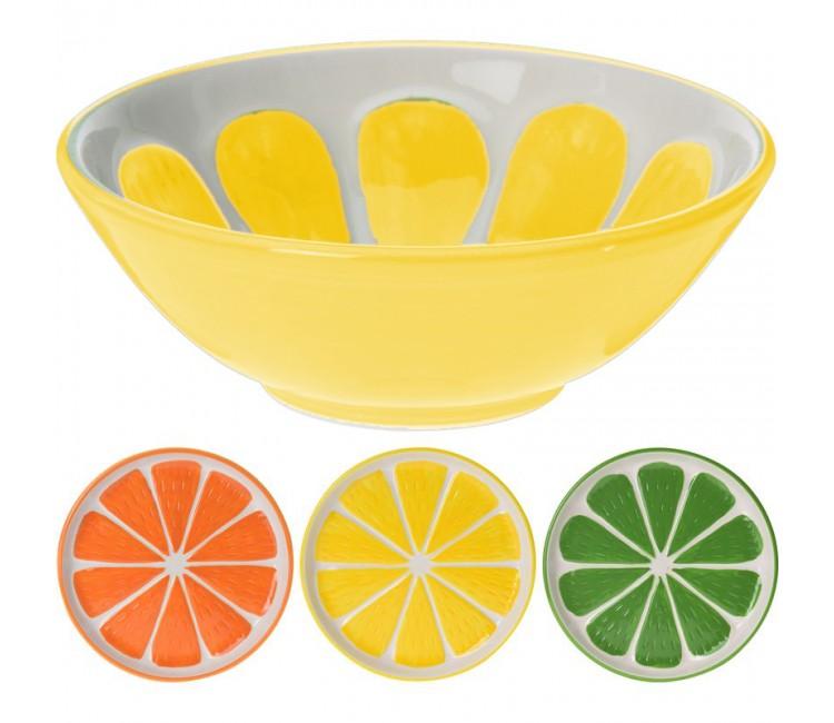 Миска керамическая Альта лимон