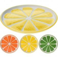 Тарелка керамическая Альта 17см лимон