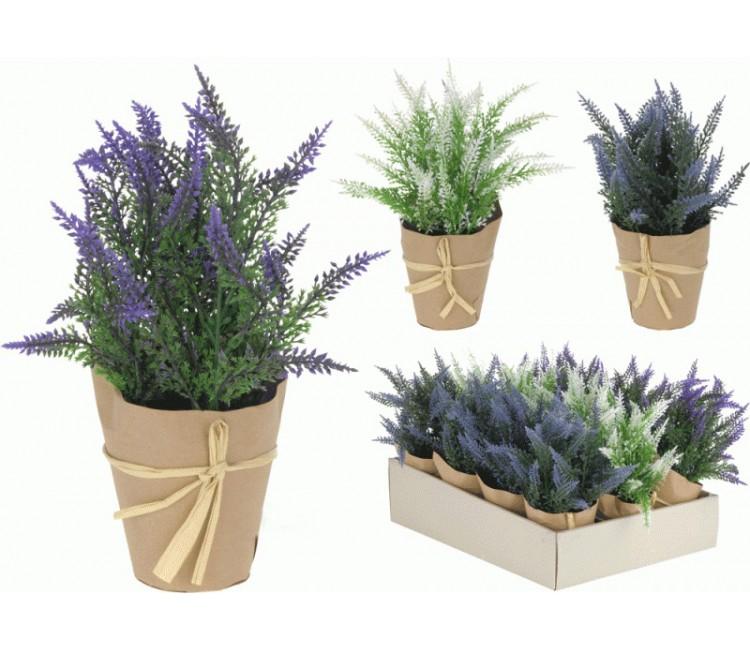 Искусственное растение Альта лаванда в крафтбумаге