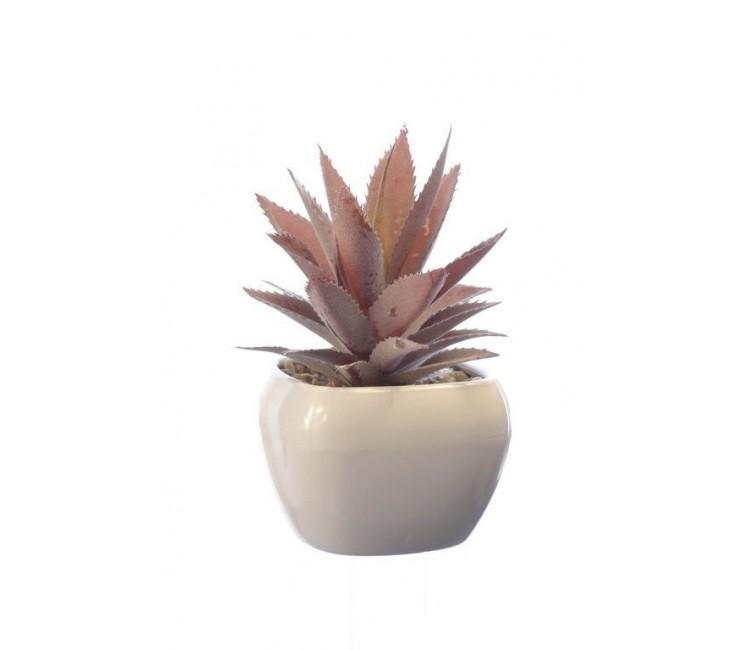 Искусственное растение Альта суккулент в керамическом горшке