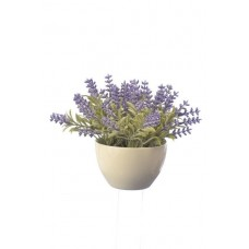 Искусственное растение Альта лаванда в керамическом горшке