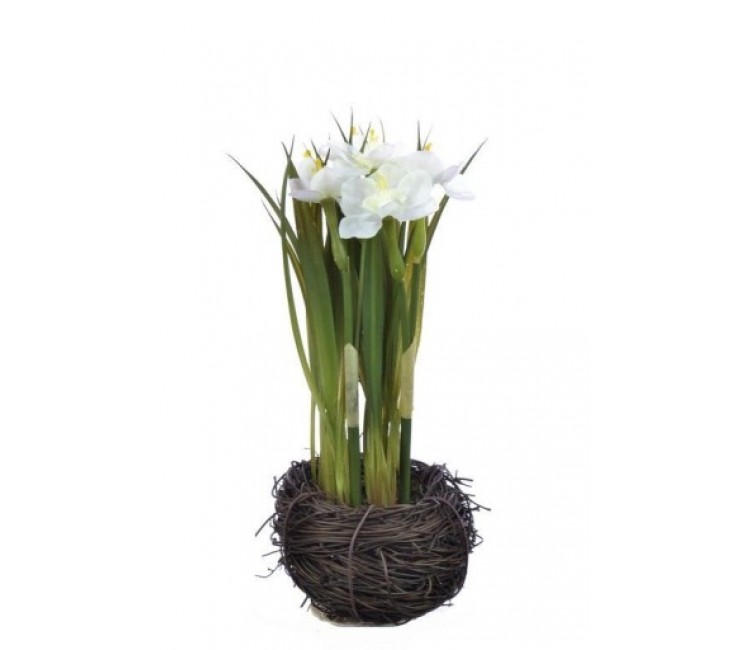 Искусственное растение Альта нарцисс в гнезде