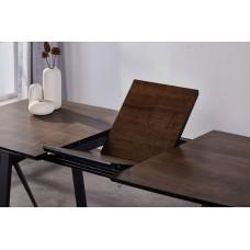 Стол обеденный раскладной ALTA DT8101 антрацит\палисандр 90x160(200) см