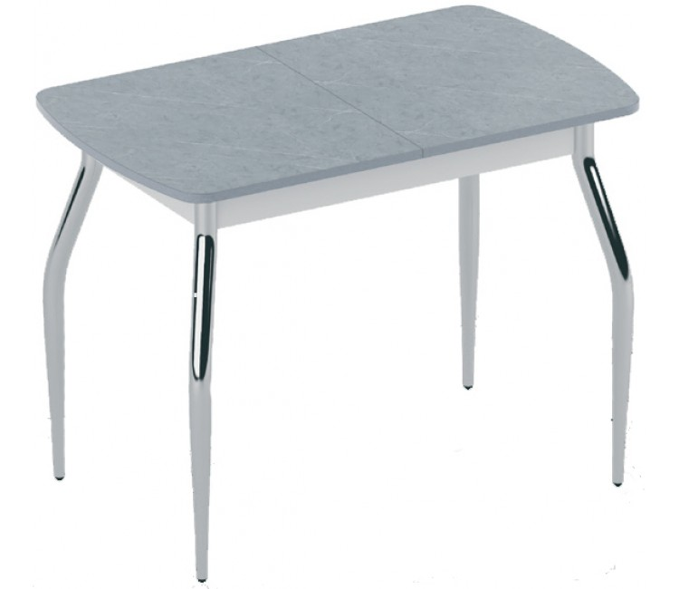 Стол раздвижной 59х100(128) ALTA F-1 мрамор серый
