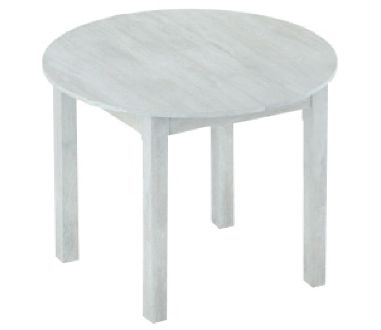 Стол кухонный обеденный круглый раздвижной Элигард MOON белая акация d=98см