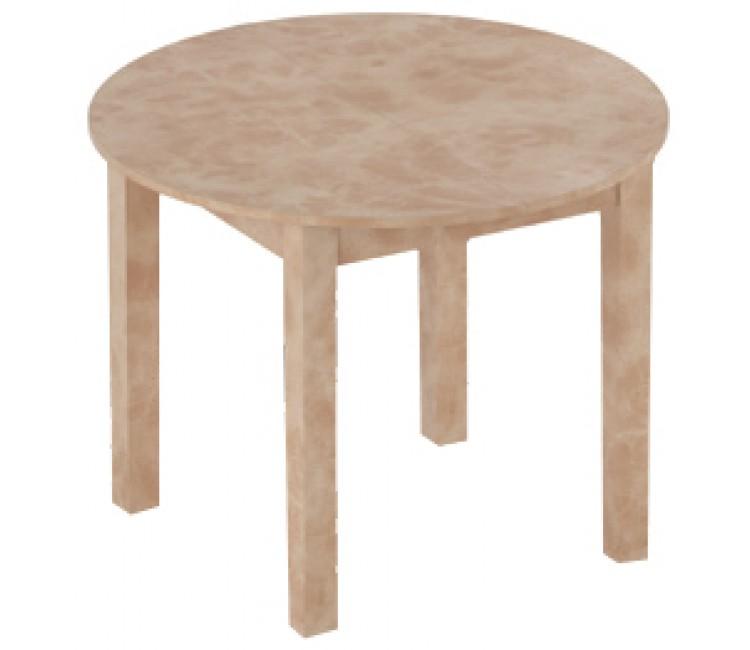 Стол кухонный обеденный круглый раздвижной Элигард MOON сафари d=98см