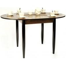Стол круглый 94х94/120 см дуб сонома темный ноги конус венге кухонный обеденный раздвижной