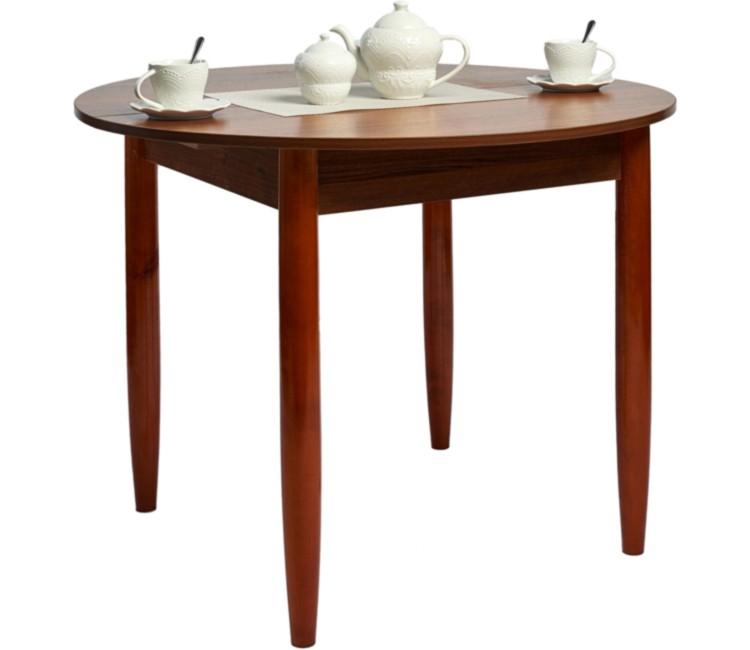 Стол круглый 94х94/120 см орех ноги конус кухонный обеденный раздвижной