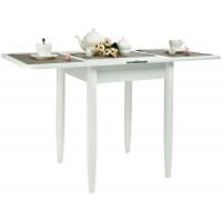 Стол Ломберный 60х60/120 белый текстурный ноги конус кухонный обеденный раскладной