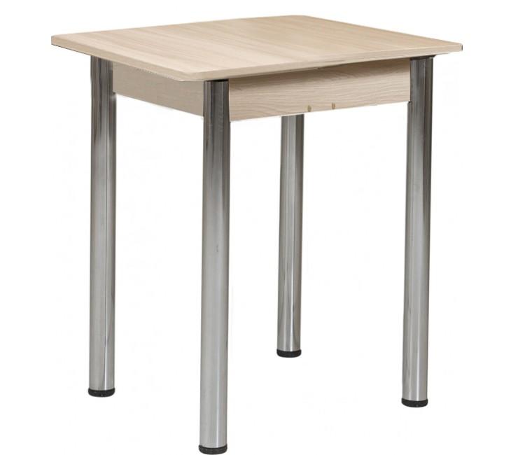 Стол Ломберный 60х60/120 шимо светлый ноги хром кухонный обеденный раскладной