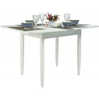 Стол Ломберный 80х60/120 белый текстурный ноги конус кухонный обеденный раскладной