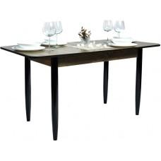 Стол Прямоугольный 70х110/140 дуб сонома темный ноги конус венге кухонный обеденный раздвижной