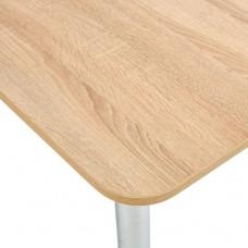 Стол Прямоугольный 70х110/140 дуб сонома светлый ноги хром кухонный обеденный раздвижной