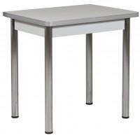 Стол Ломберный 80х60/120 серый ноги хром кухонный обеденный раскладной