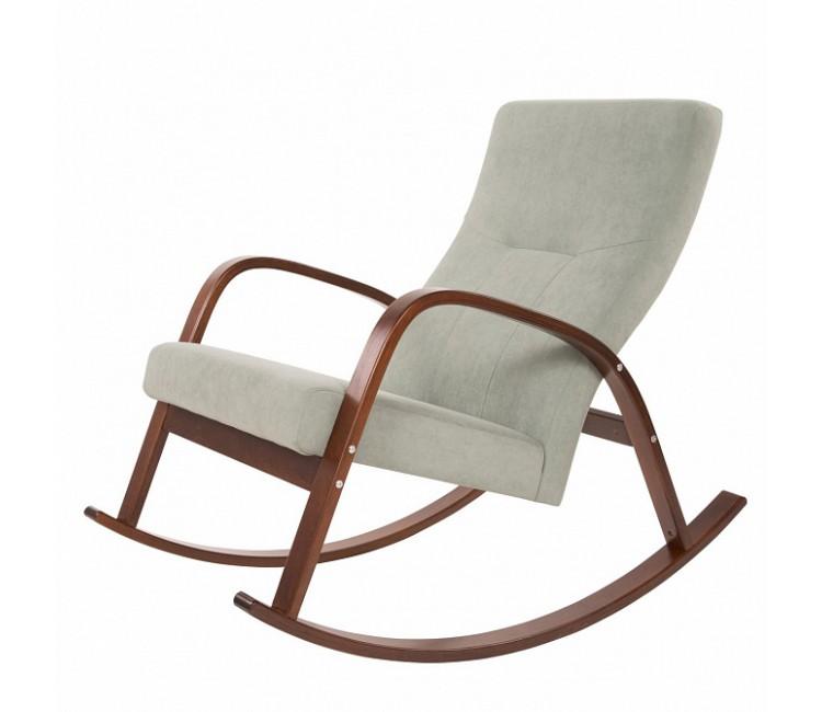 Кресло-качалка ГринТри Ирса ткань минт / каркас вишня
