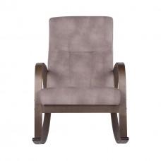 Кресло-качалка ГринТри Ирса ткань крем брюле / каркас венге структура