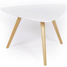 Журнальный столик ГринТри Лорейн-1 белый/ножки белые