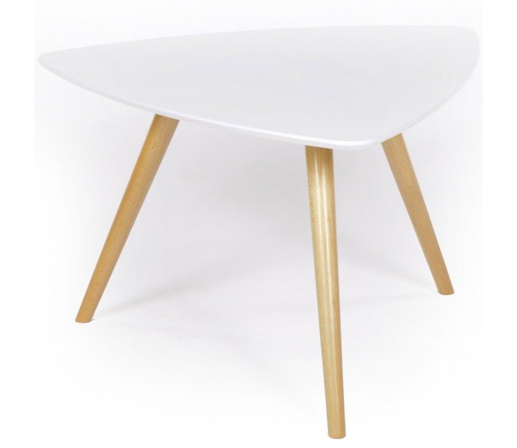 Журнальный столик ГринТри Лорейн-1 белый/ножки бук