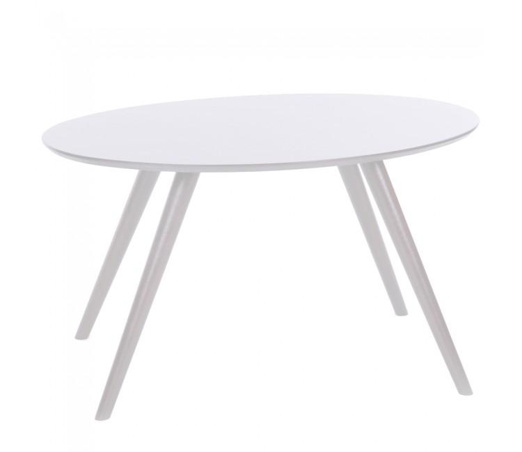 Журнальный столик ГринТри Лорейн-2 белый/ножки белые
