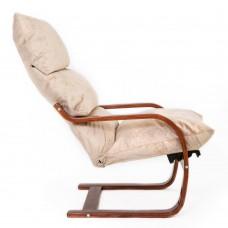 Кресло ГринТри Онега вишня/ткань карамель