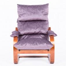 Кресло ГринТри Онега вишня/ткань Лаванда