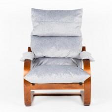 Кресло ГринТри Онега вишня/ткань Лазурь