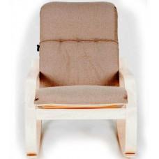 Кресло-качалка ГринТри Сайма береза/ткань Миндаль