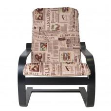 Кресло ГринТри Сайма венге/ткань Газета