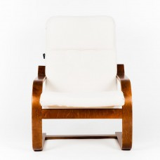 Кресло ГринТри Сайма вишня/ткань Гардения