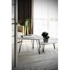 Журнальный столик Тет-а-тет белый бетон