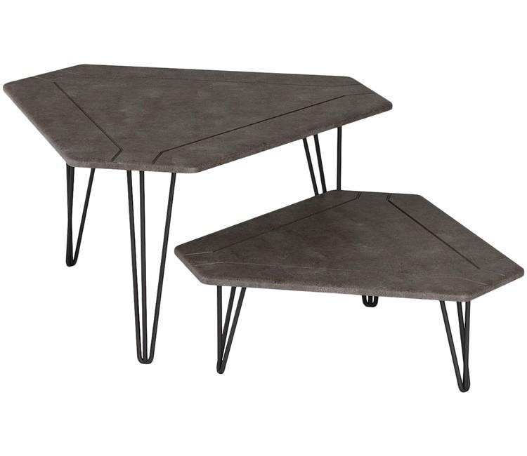 Журнальный столик Тет-а-тет серый бетон