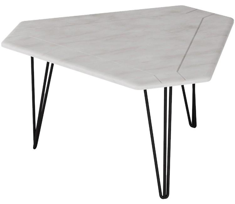 Журнальный столик ТЕТ 450 белый бетон