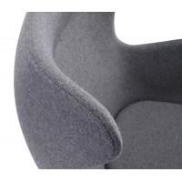 Кресло Яйцо EGG (кашемир) темно-серый