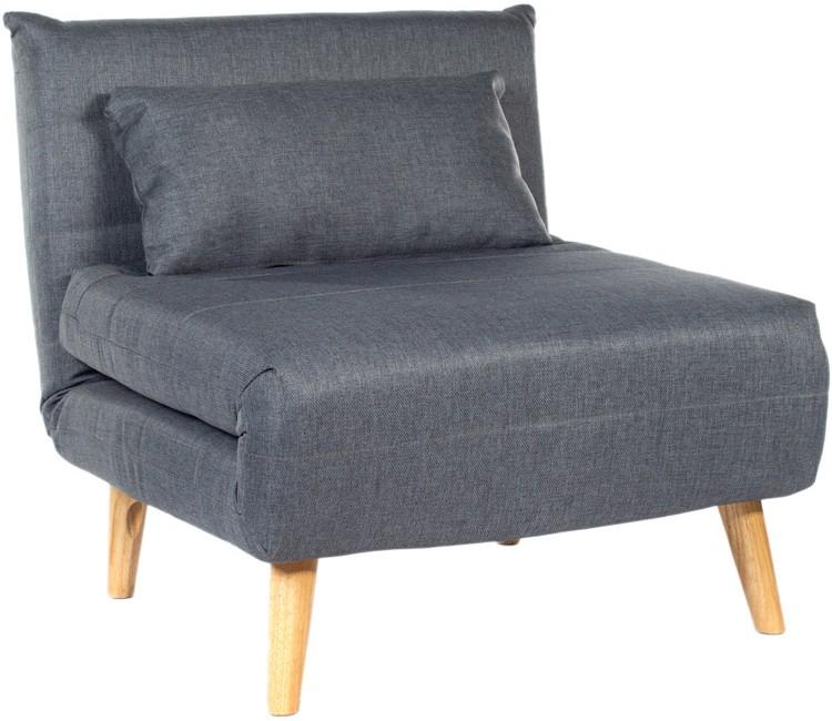 Кресло-кровать серый