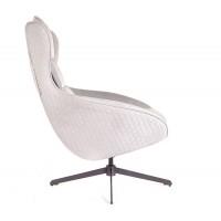 Кресло Prime Прайм серый (вельвет)